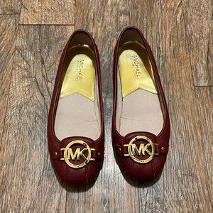 Michael Kors Red Leather Flat Size 6
